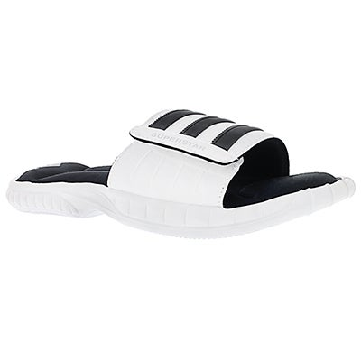 Adidas Men's SUPERSTAR 3G white/black slide sandals