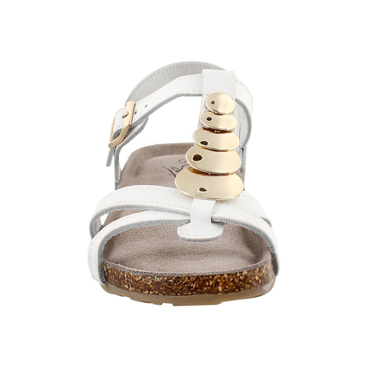 Lds Gabriele wht mem. foam wedge sandal