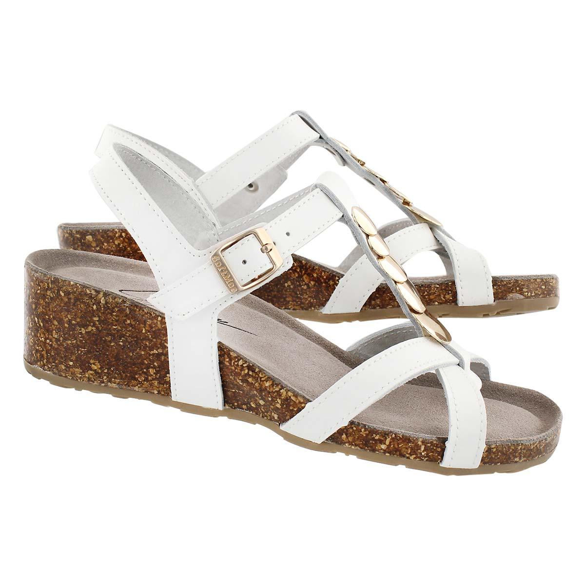 Sandale av msse visc GABRIELE, blnc, fem