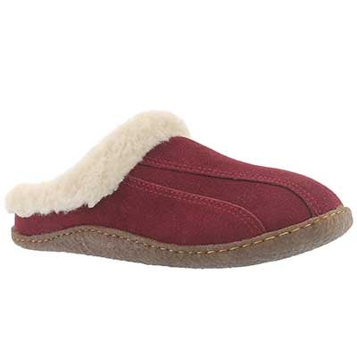 SoftMoc Women's GALAXIE III burgundy open back slippers