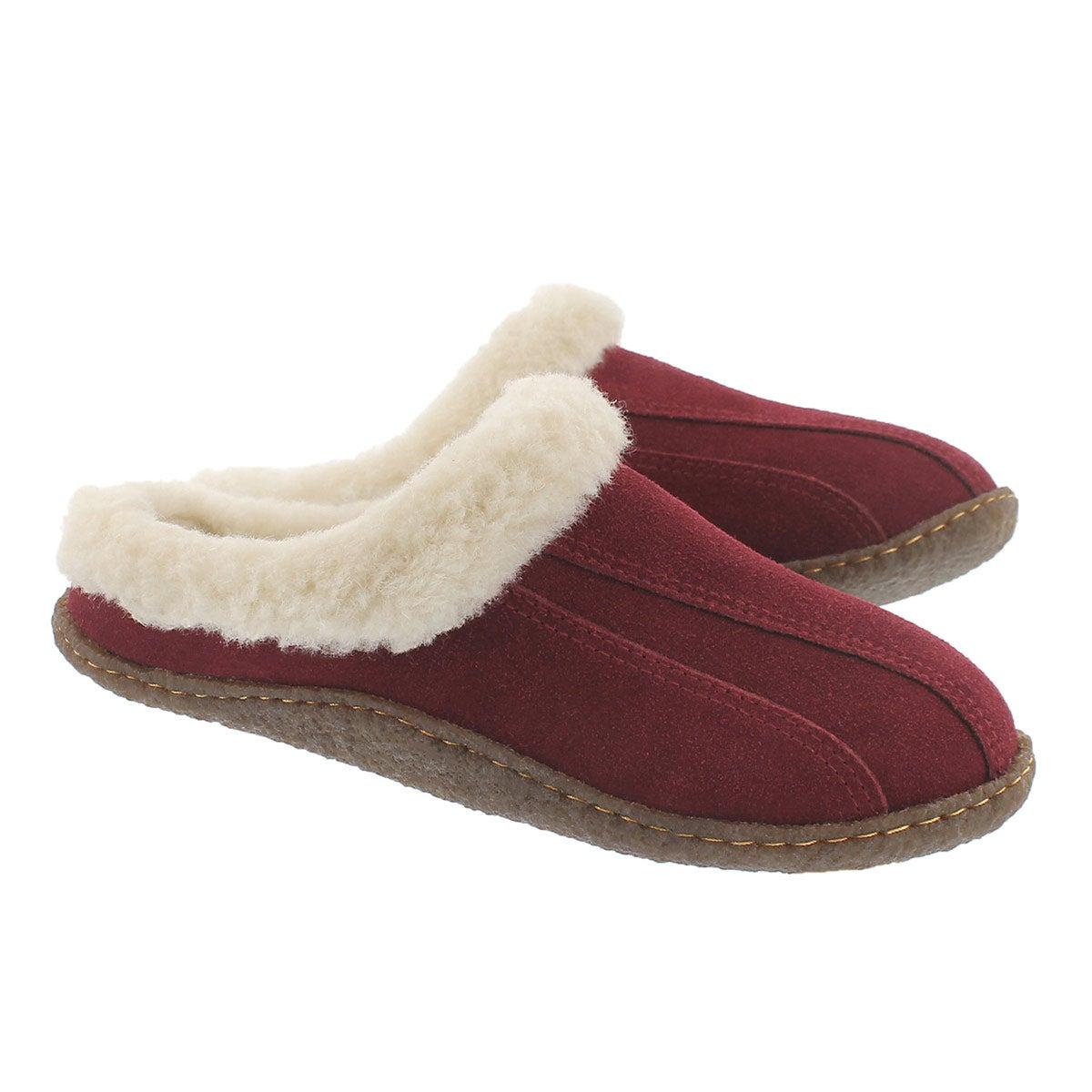 Lds Galaxie III brgndy open back slipper