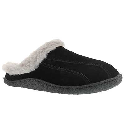 SoftMoc Women's GALAXIE III black/grey open back slippers