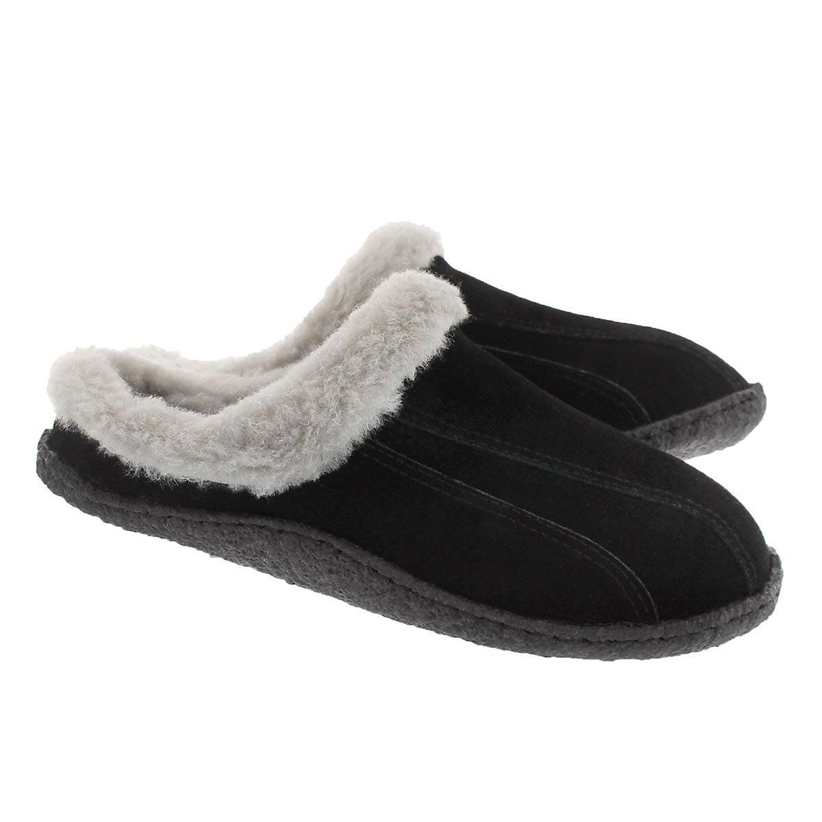 Lds Galaxie III bk/gry open back slipper