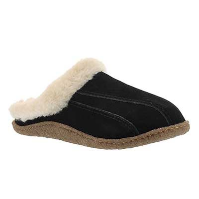 Lds Galaxie III blk open back slipper