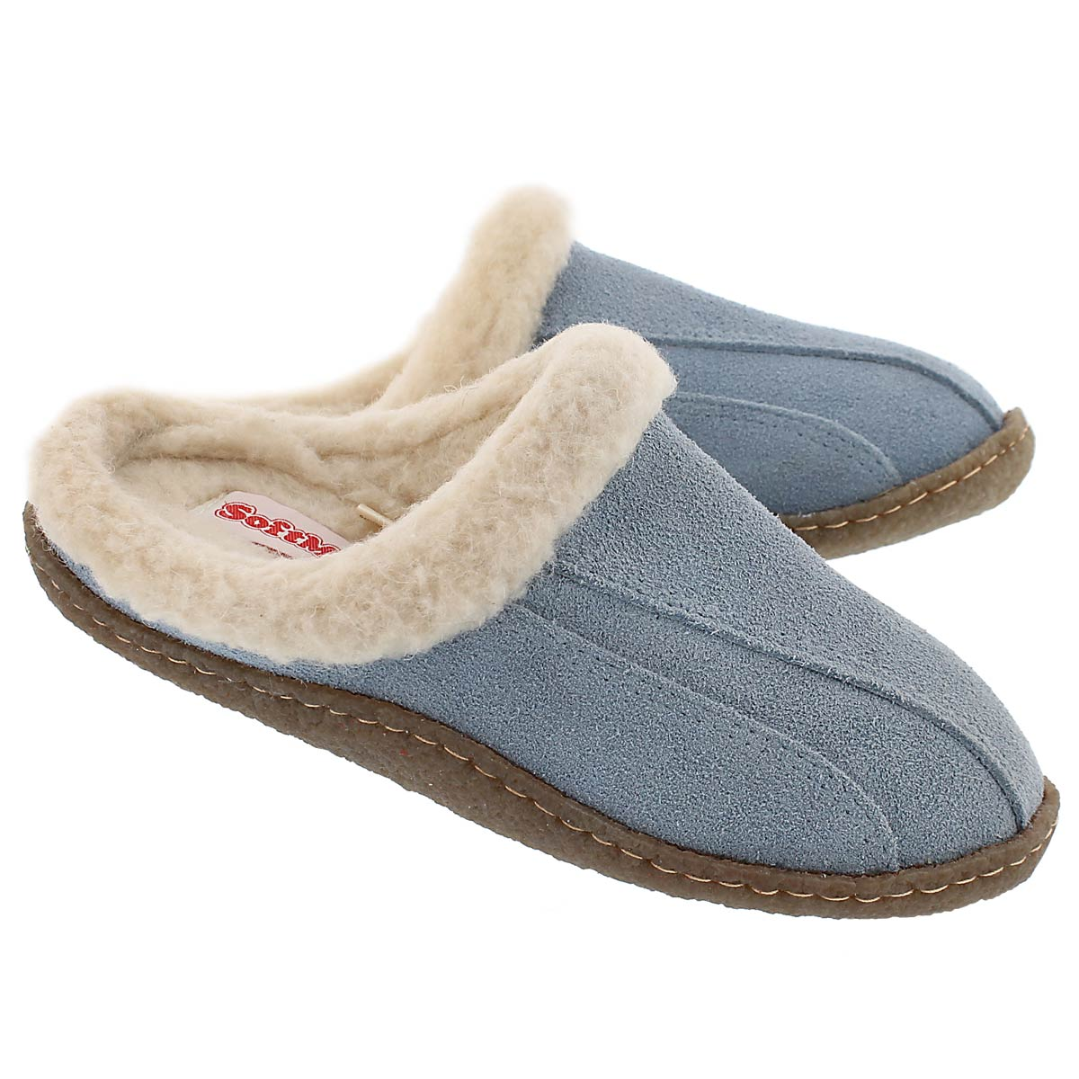 Lds Galaxie III blue open back slipper