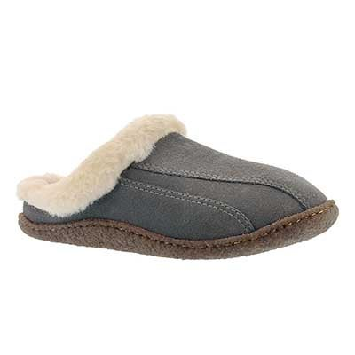 SoftMoc Women's GALAXIE III grey open back slippers