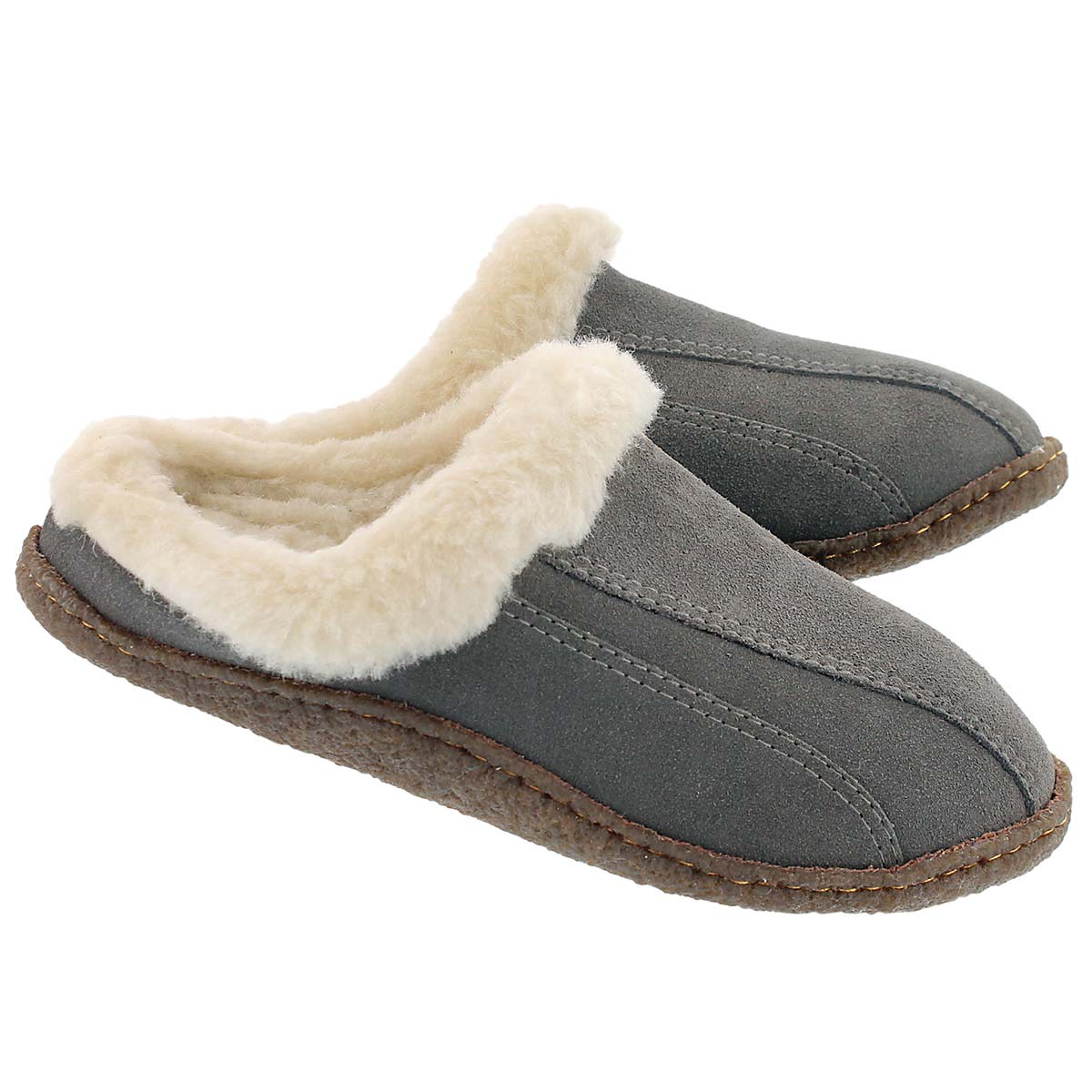 Lds Galaxie III grey open back slipper