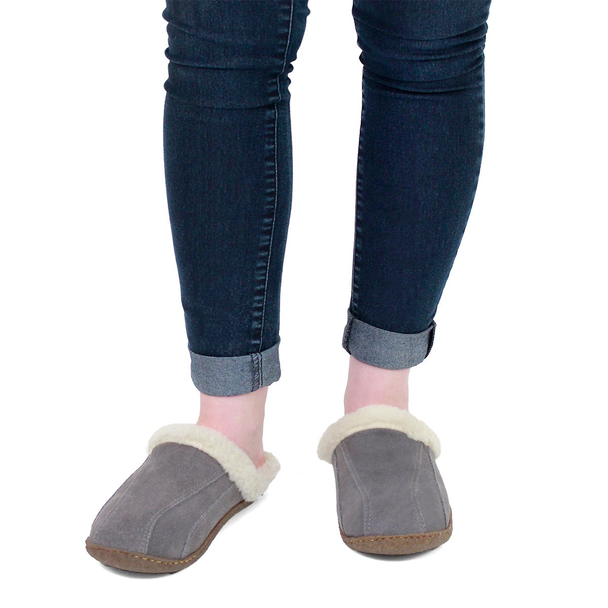 Lds Galaxie III grey open back slipper