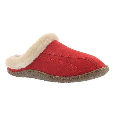 SoftMoc Women's GALAXIE III red open back slippers