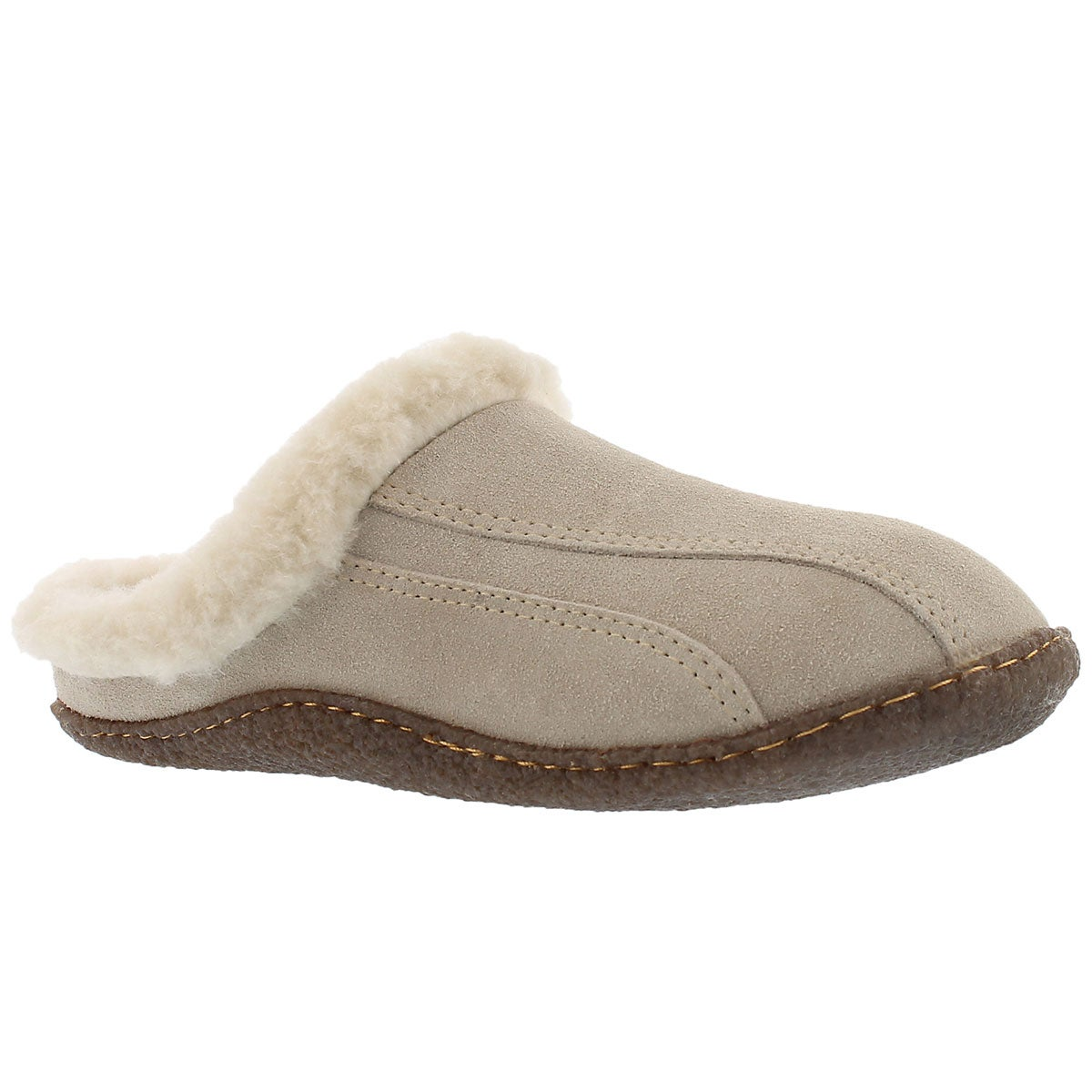 Women's GALAXIE III sand open back slippers