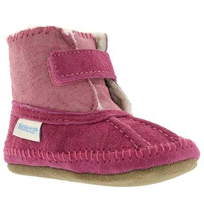 Robeez Infants' GALWAY COZY BOOTIE pink slippers