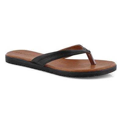 Lds Gamila black thong sandal
