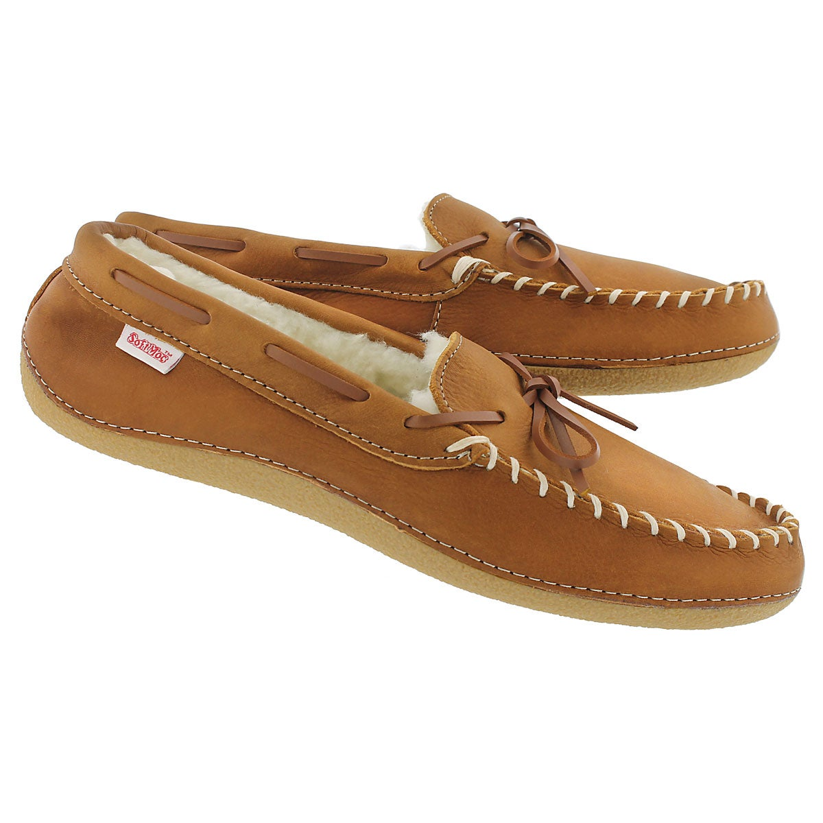 Mns Gary bark fleece lined lthr moc