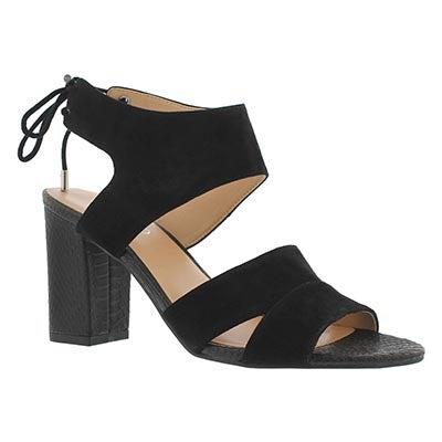 Lds Gem black dress sandal