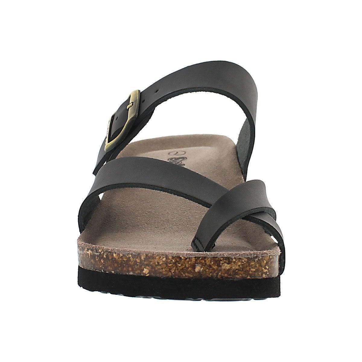 Lds Gemma black mem. foam wdge sandal