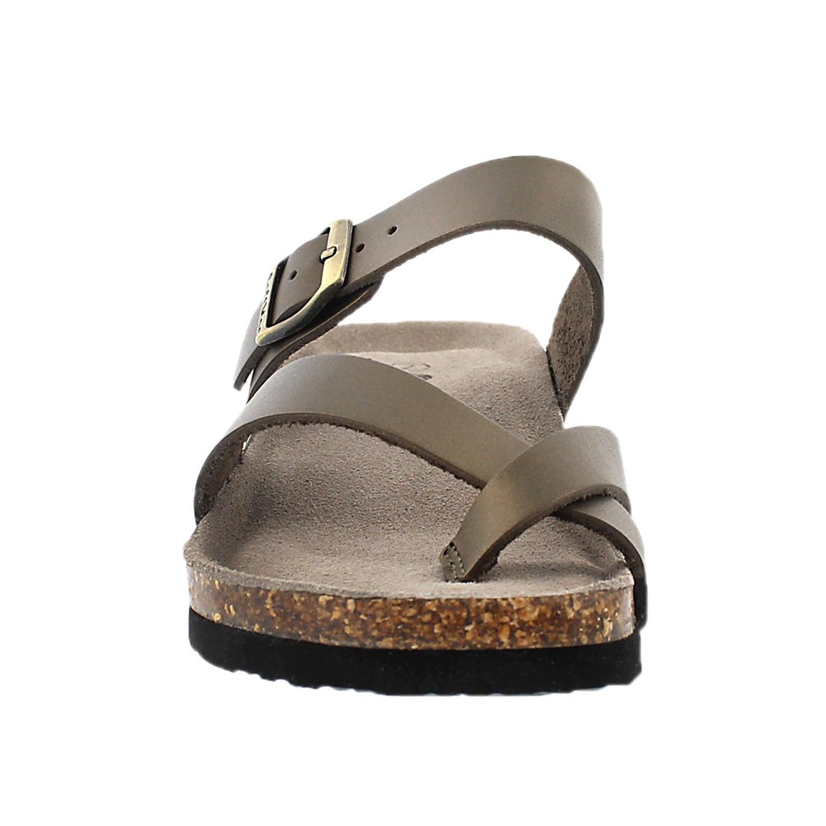 Lds Gemma rose gld mem. foam wdge sandal