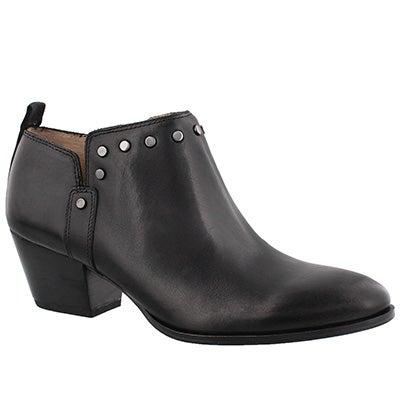 Lds Geneva black slip on ankle boot