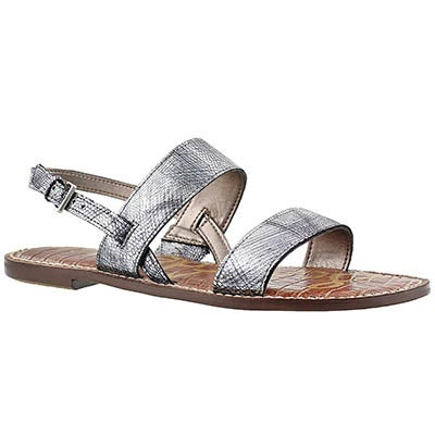 Sam Edelman Women's GEORGIANA pewter casual sandals