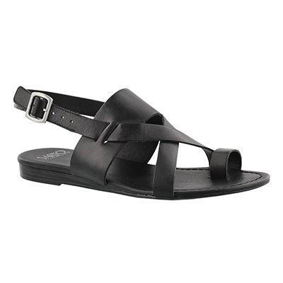 Lds Gia blk toe wrap casual sandal