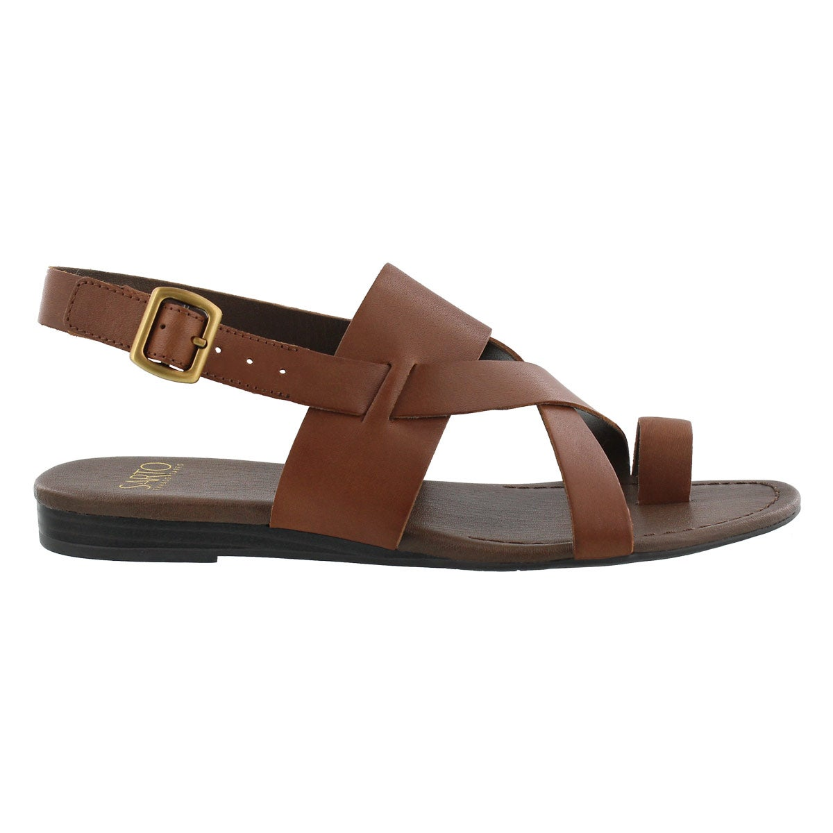 Lds Gia choc brn toe wrap casual sandal