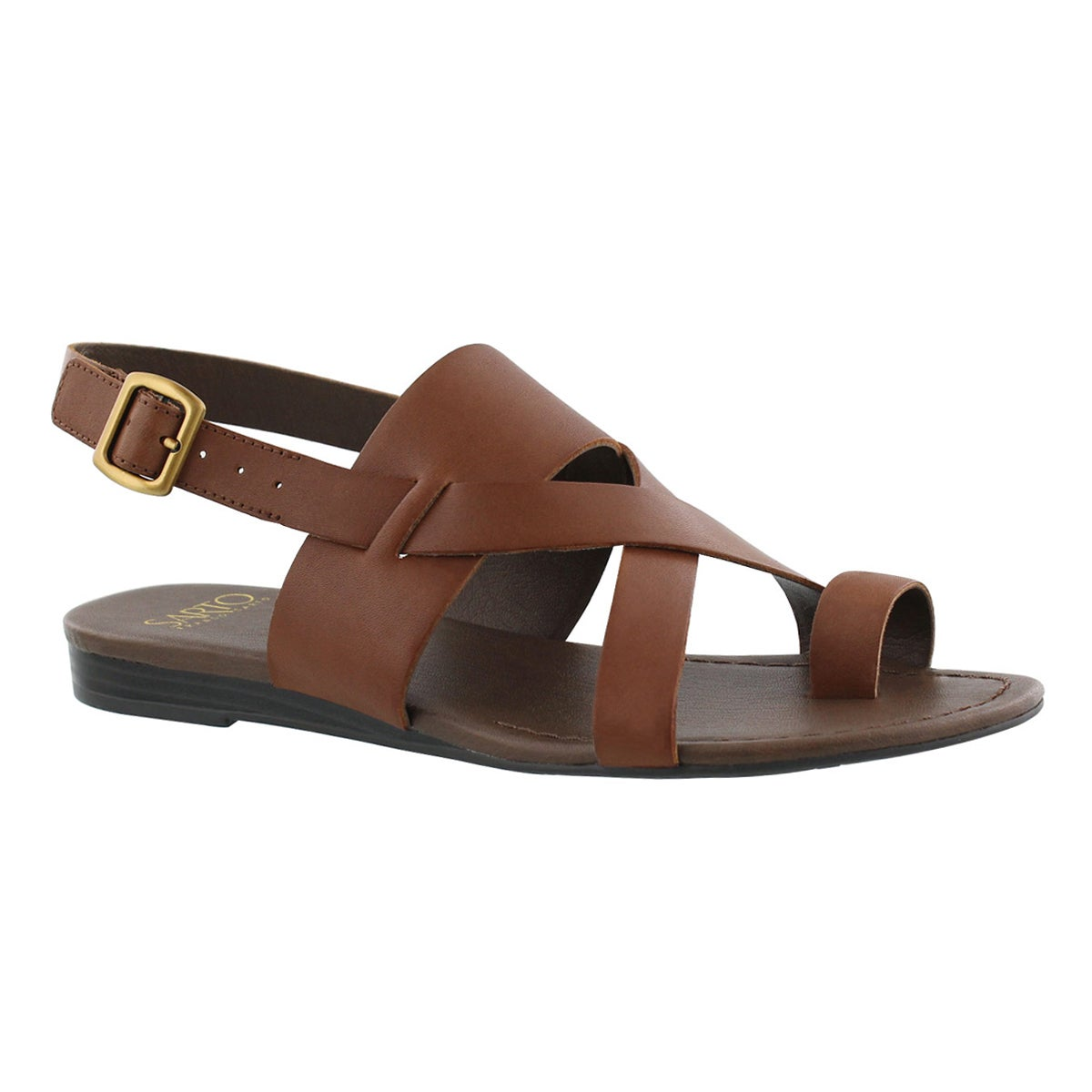 Women's GIA choc brown toe wrap casual sandals