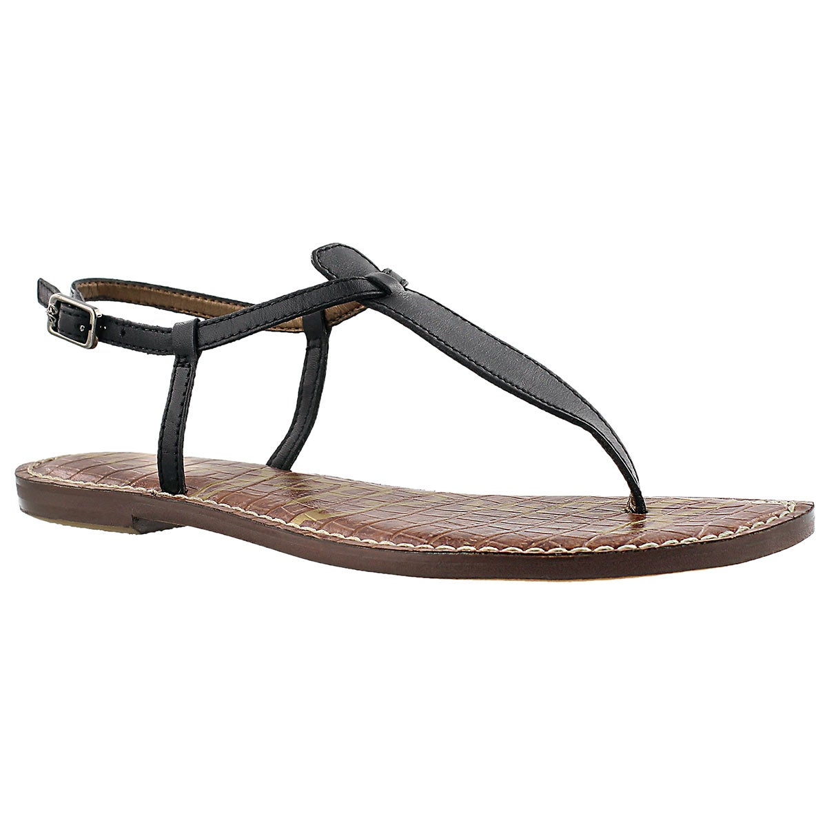 Women's GIGI black t-strap casual sandals