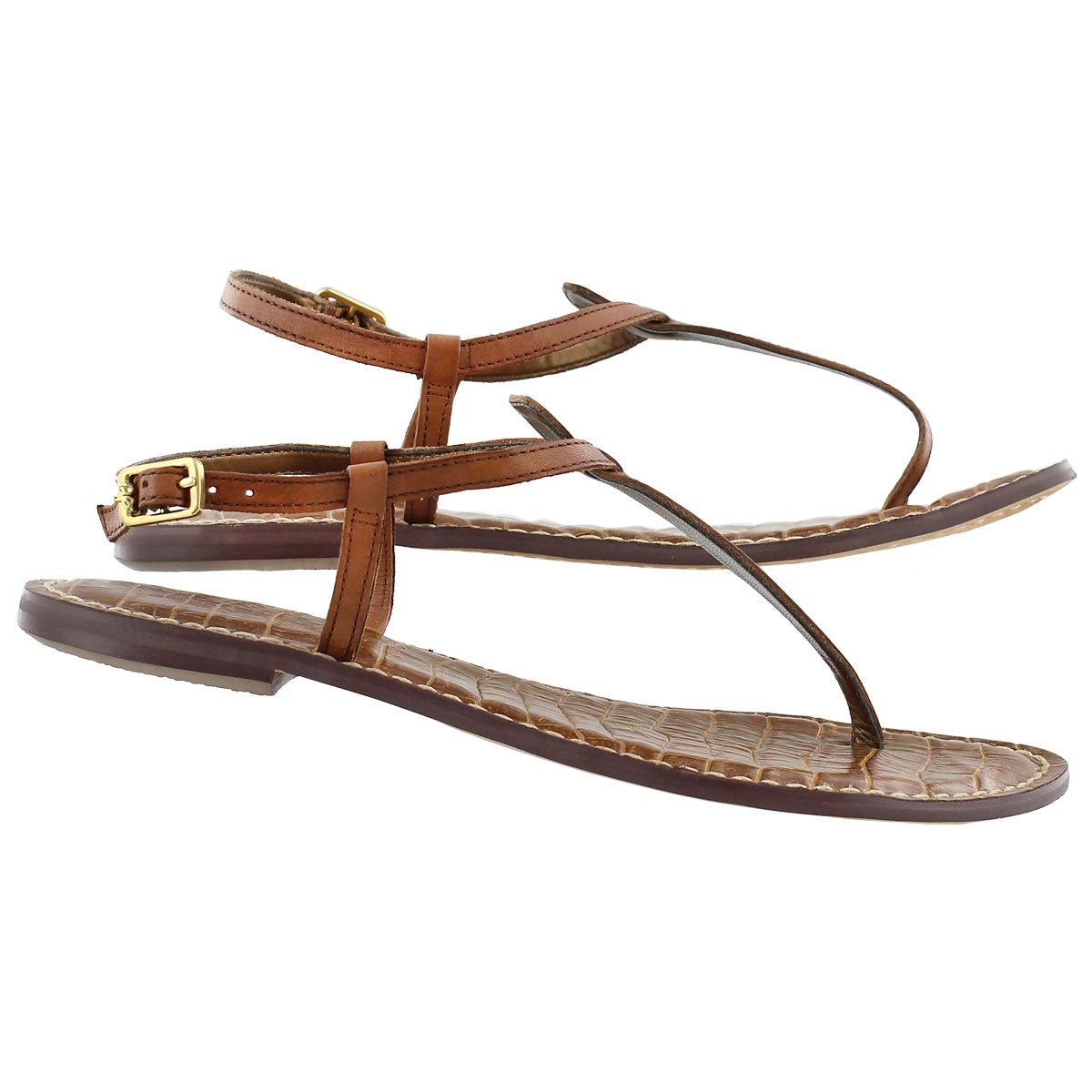 Lds Gigi saddle t-strap casual sandal