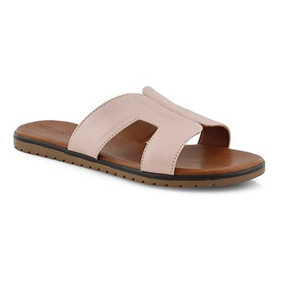Lds Gillian blush pink slide sandal