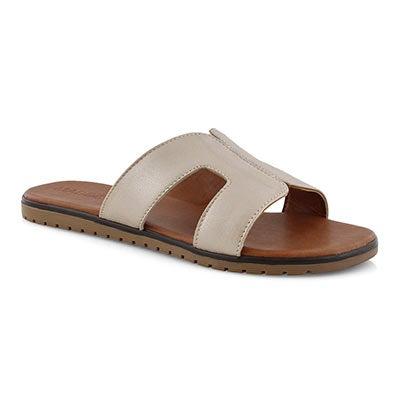Lds Gillian champagne slide sandal