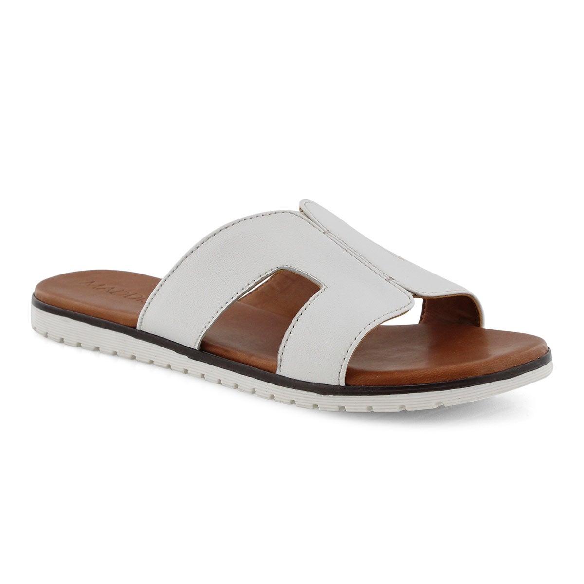 Lds Gillian white slide sandal