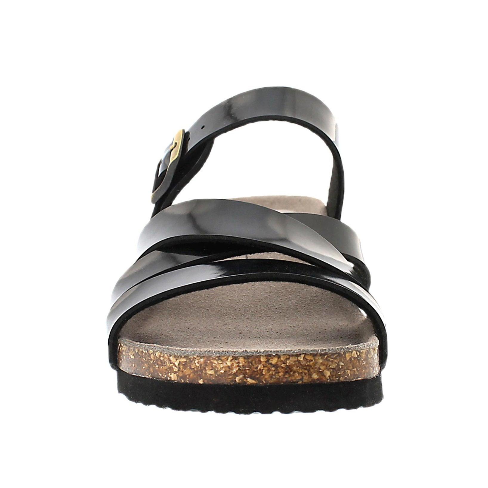 Sandale msse visc GINNIE, noir vrn, fem