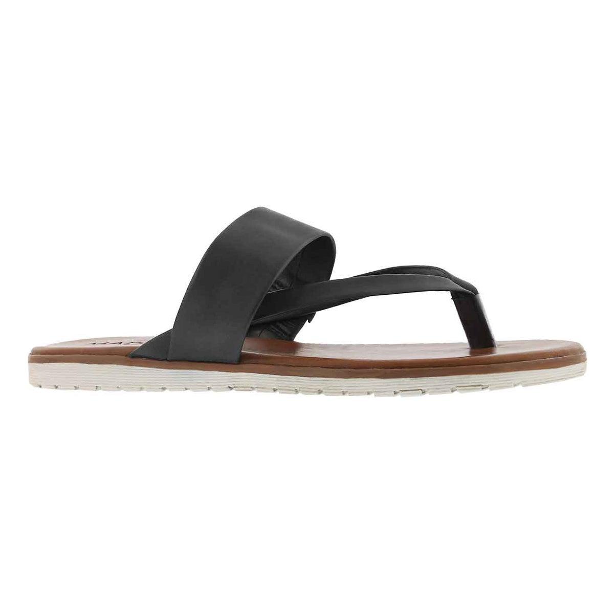 Women's GISELLE black thong sandals