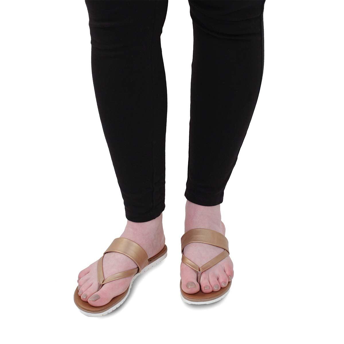 Lds Giselle rose gold thong sandal