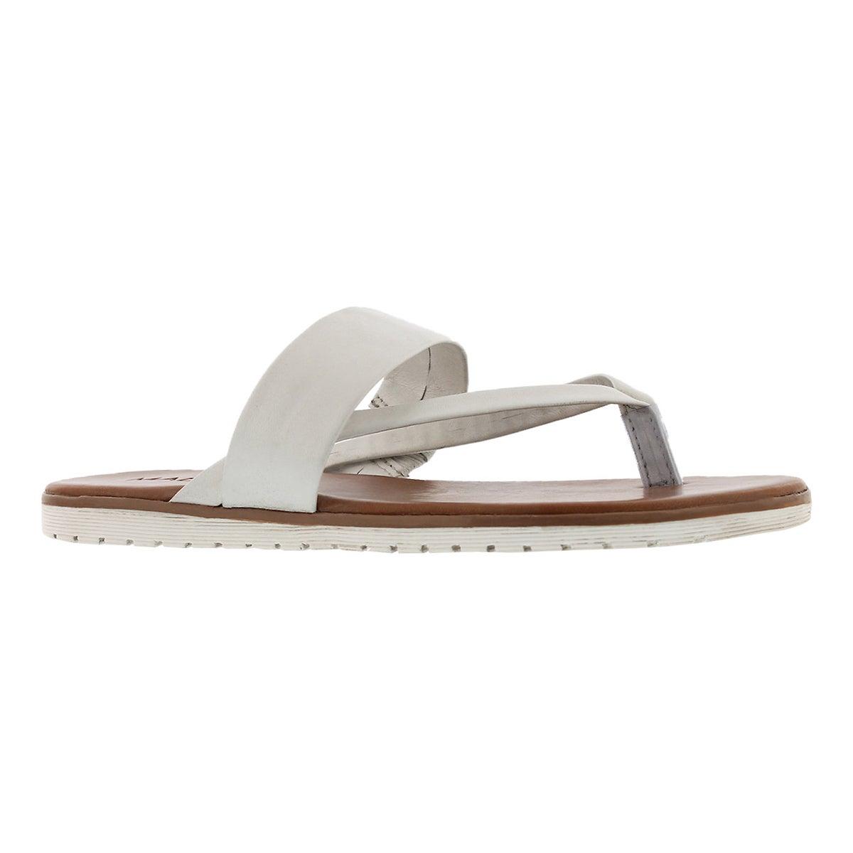 Women's GISELLE white thong sandals