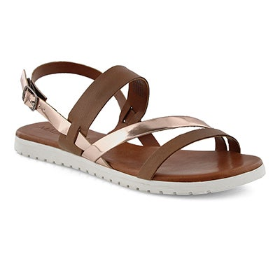 Lds Gita tan/rose gold casual sandal