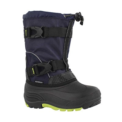 Bys Glacial nvy/lime wtpf winter boot