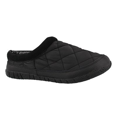 Lds Glacier black open back slipper