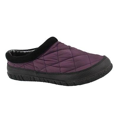 Lds Glacier purple open back slipper