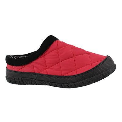 Lds Glacier red open back slipper