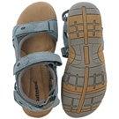 Lds Gladys blue 3-strap mem. foam sandal
