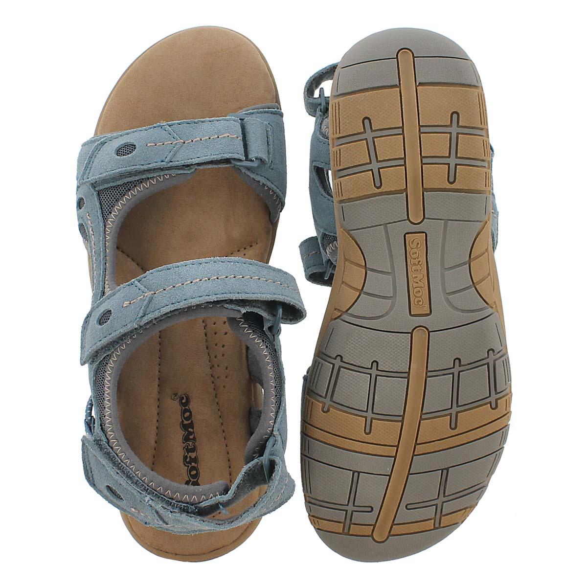 Sandale msse visc. Gladys, bleu, femmes
