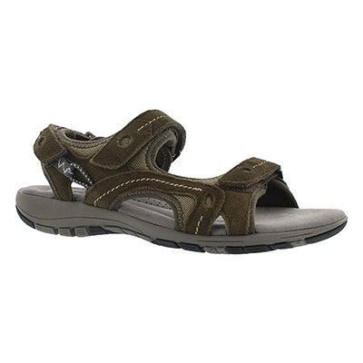SoftMoc Women's GLADYS khaki 3-strap memory foam sandals