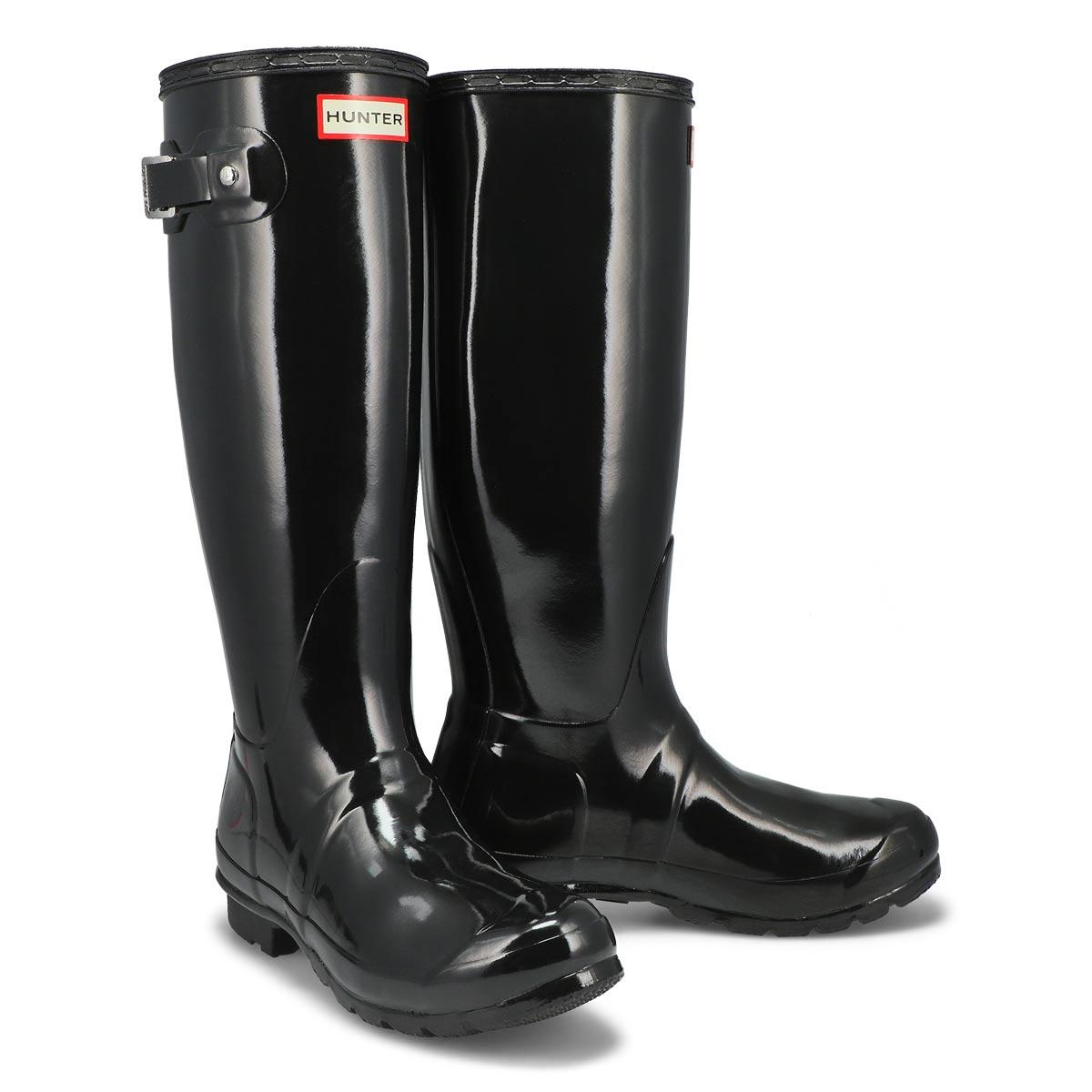 Lds Original Tall Gloss blk rain boot