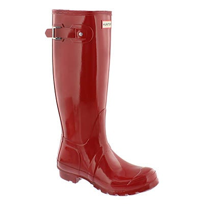 Hunter Women's ORIGINAL TALL GLOSS red rain boots