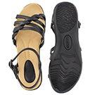 Lds Grace black memory foam sandal