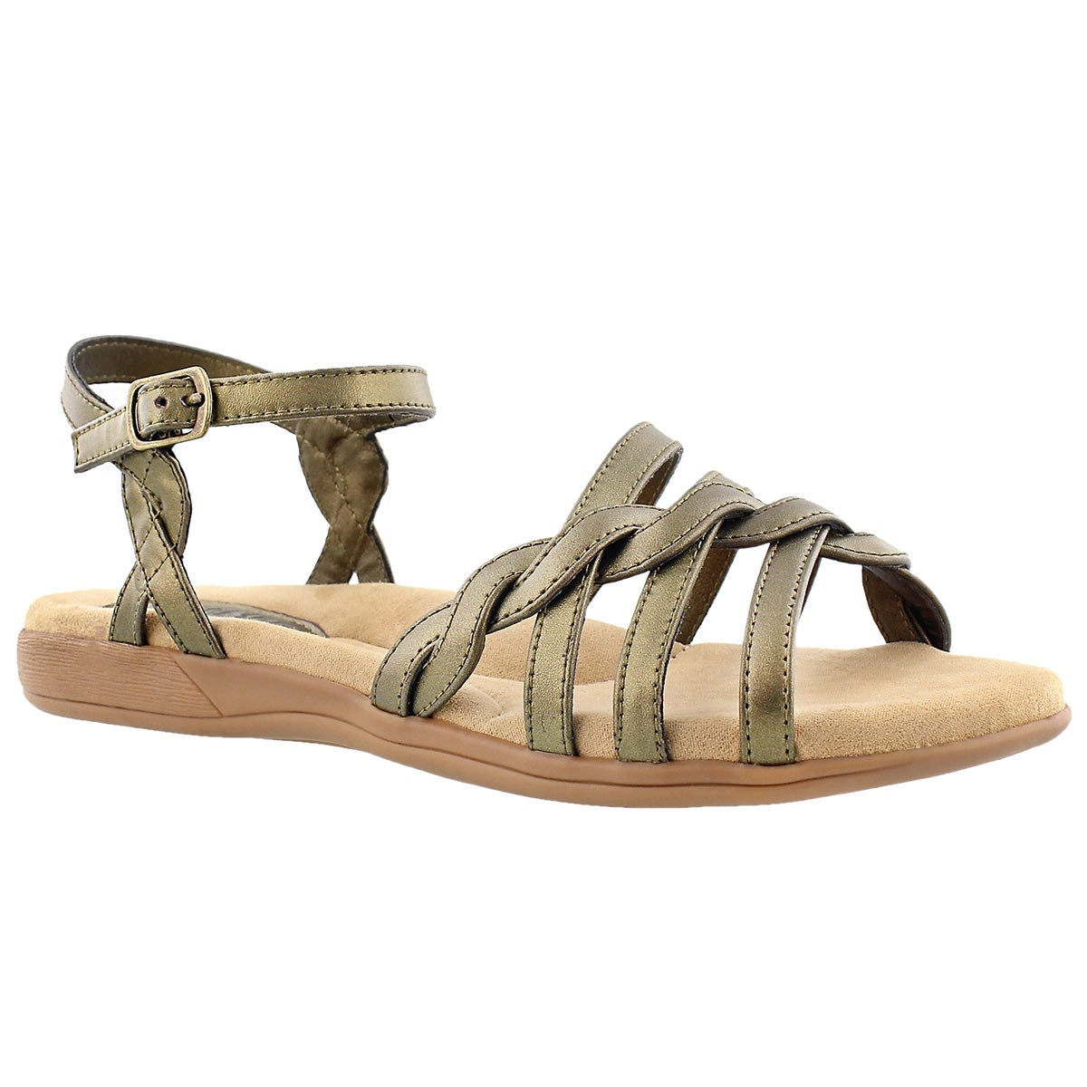 Lds Grace gold memory foam sandal