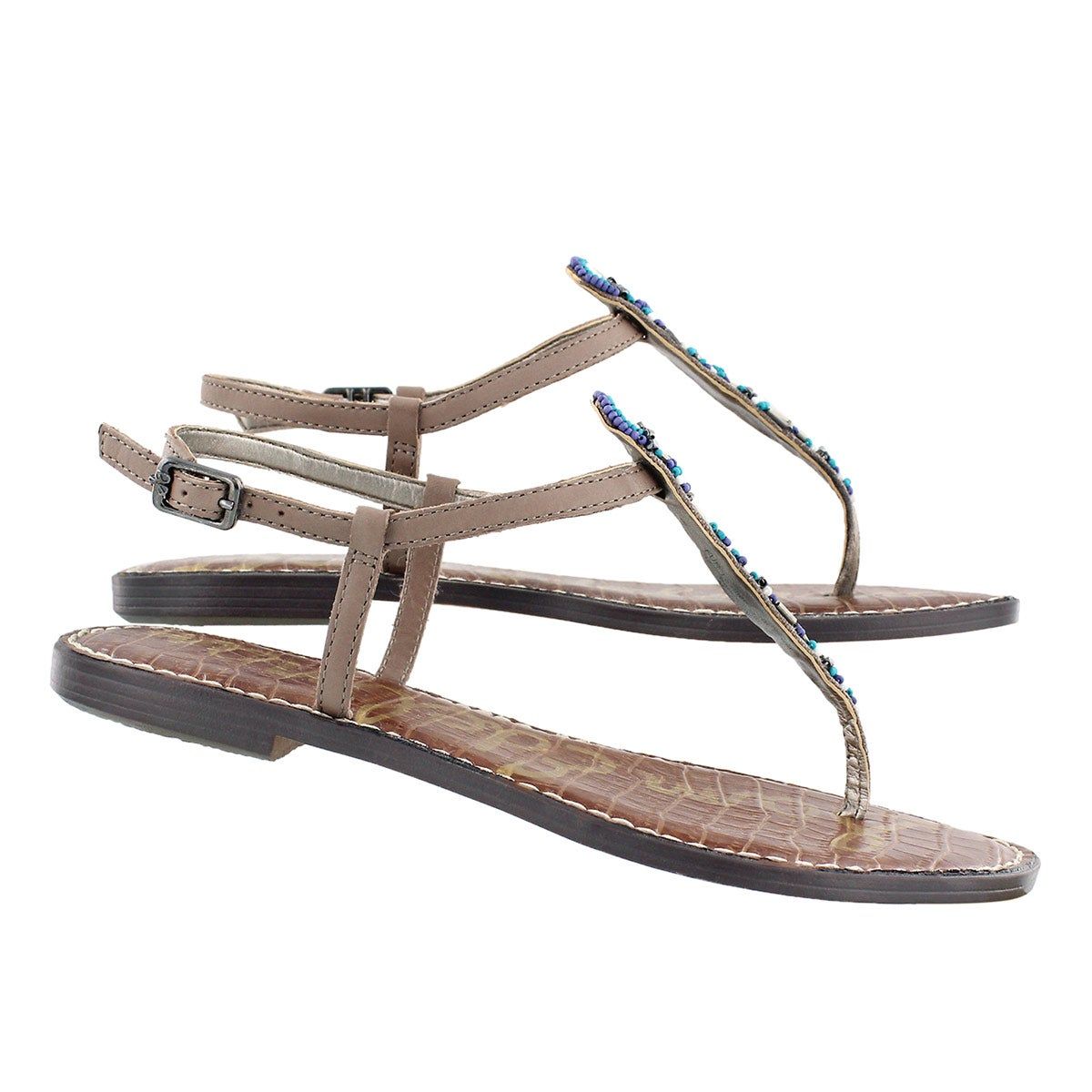 Lds Grace putty casual t-strap sandal
