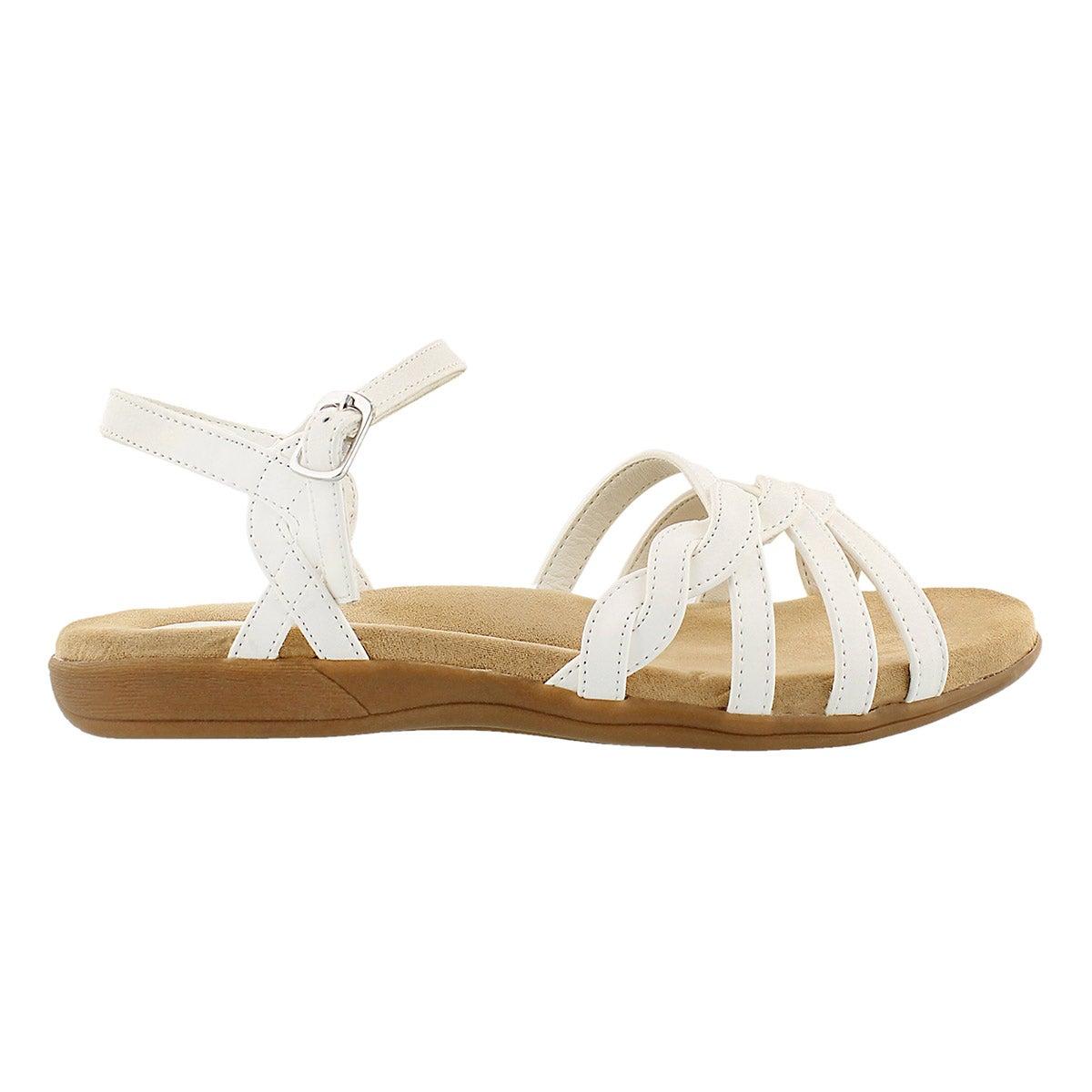 Sandale av mousse visc GRACE, blanc, fem