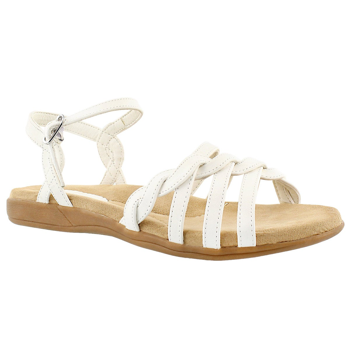 Lds Grace white memory foam sandal