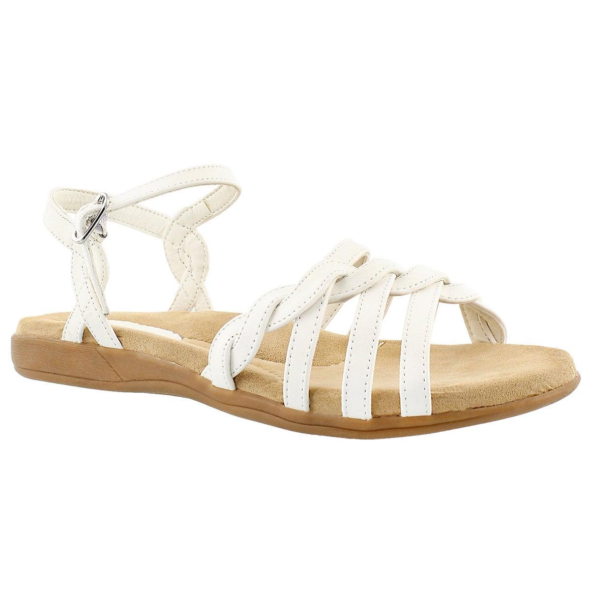Women's GRACE white memory foam sandals